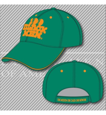 H5. 100 Black Men Green/Orange Hat