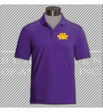 2CPP.Purple Classic Pique Golf Shirt