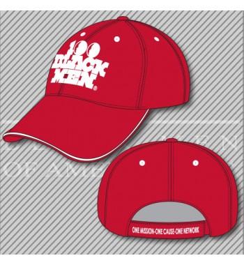 H3. 100 Black Men Red/White Hat