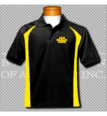 FBG. Black/Gold Fancy Golf Shirt