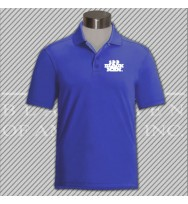CRWD. Royal Blue Dry Fit Golf Shirt