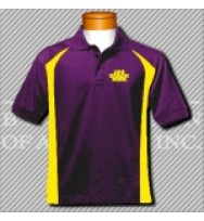 FPG. Purple/Gold Fancy Golf Shirt