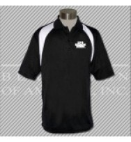 FBKW. Black/White Fancy Golf Shirt