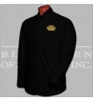 LBKT. 100 Black Men Black L/S Twill Shirt