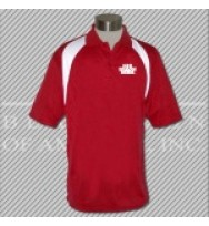 FRW. Red/White Fancy Golf Shirt