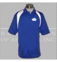 FRW. Royal/White Fancy Golf Shirt