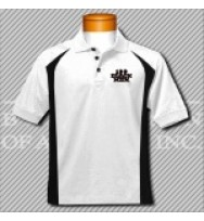 FWB. White/Black Fancy Golf Shirt