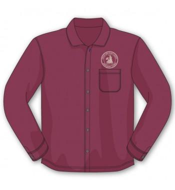 Burgundy Long Sleeve Button Down Shirts