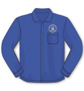 Royal Blue Long Sleeve Button Down Shirts