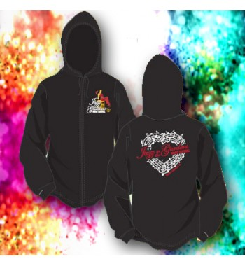 Jazz In The Gardens Music Heart Hoodie