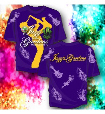 Purple/Gold Sublimatied Sax Tee