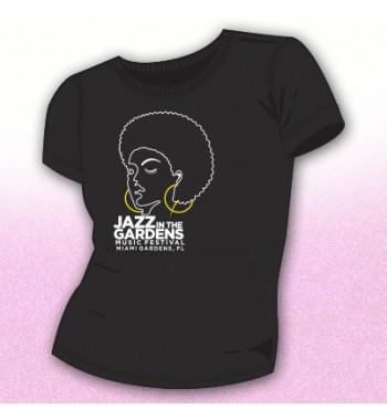 Black Afro Girl Rhinestone Fashion Top