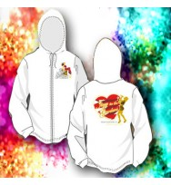 Jazz In The Gardens White Heart Hoodie